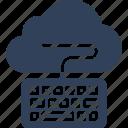 cloud computing, cloud data, cloud monitoring, keyboard icon