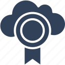 cloud medal, cloud prize, medal, position medal icon