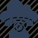 call us, cloud landline, cloud phone, fax icon