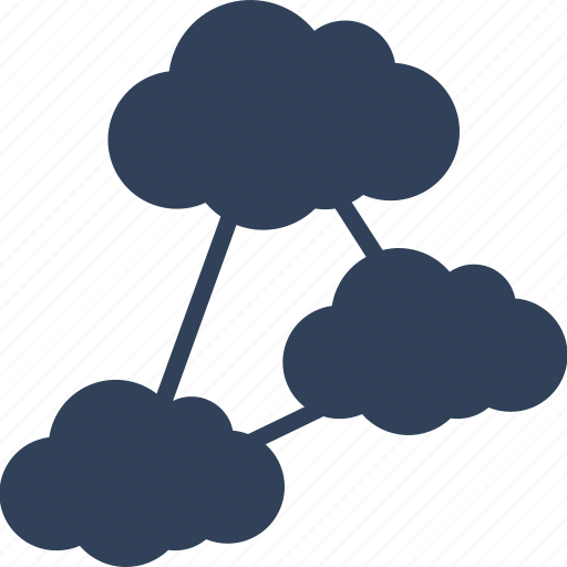cloud computing, cloud network, hierarchy, share icon
