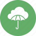 cloud computing, cloud network, network security, umbrella icon