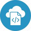 cloud coding, cloud programming, div file, html file icon