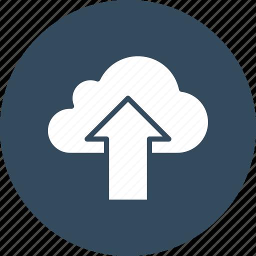 cloud data transmission, cloud transfer, cloud upload, cloud uploading icon