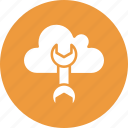 cloud computing, cloud preferences, cloud settings, wrench icon