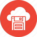 cloud floppy, floppy disk, floppy drive, storage device icon
