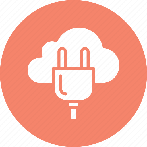 cloud computing, cloud hosting, internet connection, power plug icon