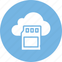 cloud storage, memory card, sd card, sd memory card icon