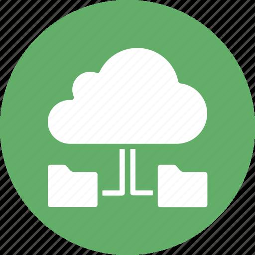 cloud computing, cloud folder, cloud technology, data accessibility icon