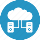 computing, server, server hosting, server network icon