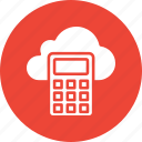 calculation, calculator, finance, icloud icon