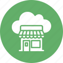 cloud shop, cloud store, ecommerce, eshop icon