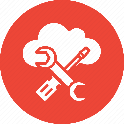 cloud computing, cloud settings, preferences, wrench icon