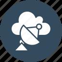 dish antenna, radar, satellite dish, space icon