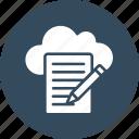 drafting, cloud writing, cloud article, cloud computing