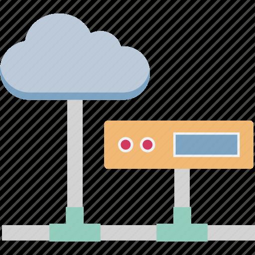 cloud computing, cloud hosting, data cloud, network server, wireless internet icon