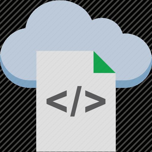 cloud coding, cloud html, cloud programming, div file, html file icon