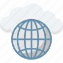 cloud network, global communication, internet, wireless technology, worldwide network icon