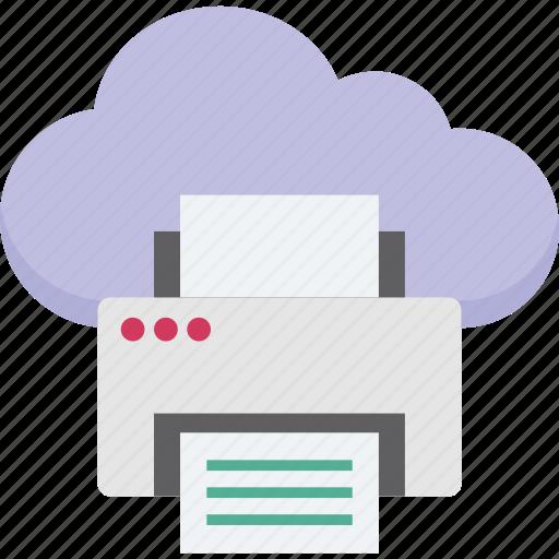 cloud printing, facsimile, facsimile machine, online printing, printing service icon