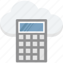 calculation, calculator, cloud calculator, finance, icloud icon