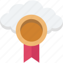 cloud medal, cloud prize, medal, position medal, reward icon