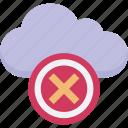 cancel cloud, cloud computing, cloud service, icloud, remove cloud icon