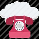 call us, cloud landline, cloud phone, fax, phone icon