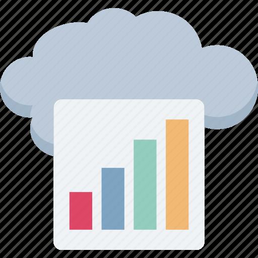 cloud computing, cloud graph, graph, oneline graph icon