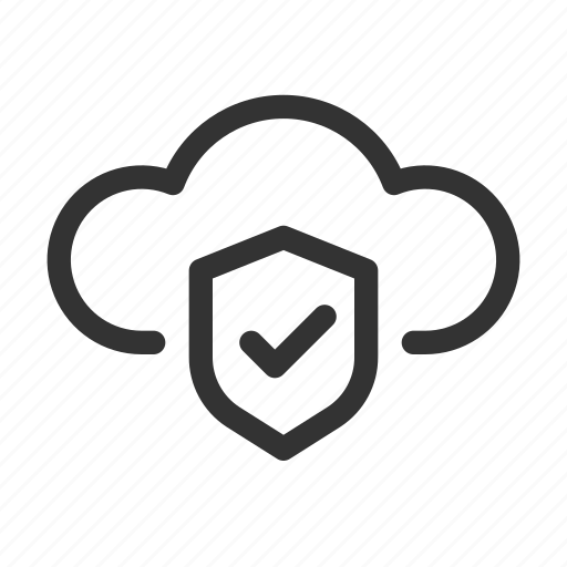 Cloud, computing, secure, serverless, shield icon - Download on Iconfinder