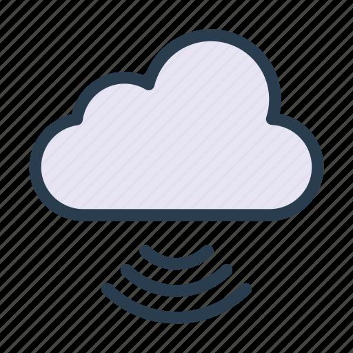 cloud, server, signal, storage, wireless icon