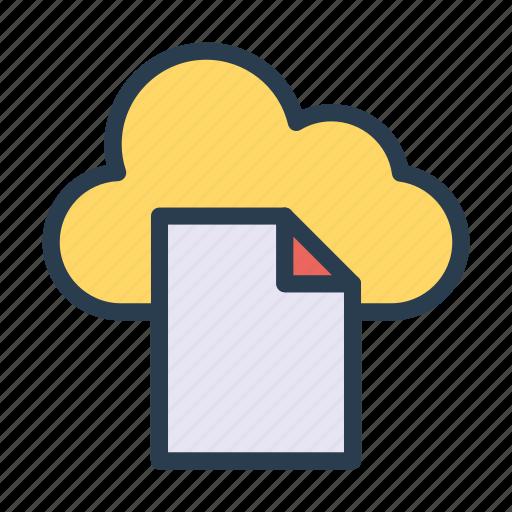 archive, cloud, document, files, server icon