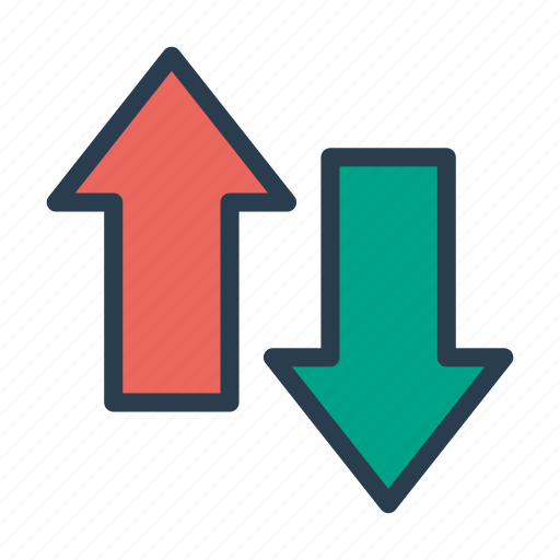 arrow, chevron, down, pointer, up icon