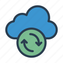 backup, cloud, database, server, storage icon