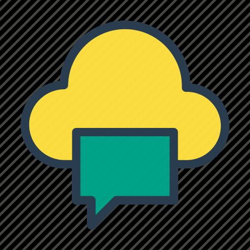 bubble, chat, cloud, database, message icon