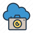 camera, capture, cloud, device, shutter icon