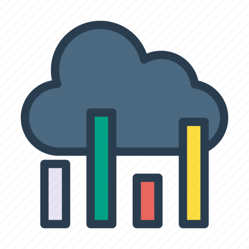 chart, cloud, finance, graph, statistic icon