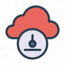 cloud, database, download, server, storage icon