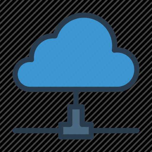 cloud, database, server, sharing, storage icon