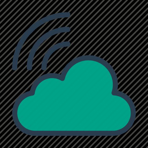 cloud, database, server, signal, storage icon
