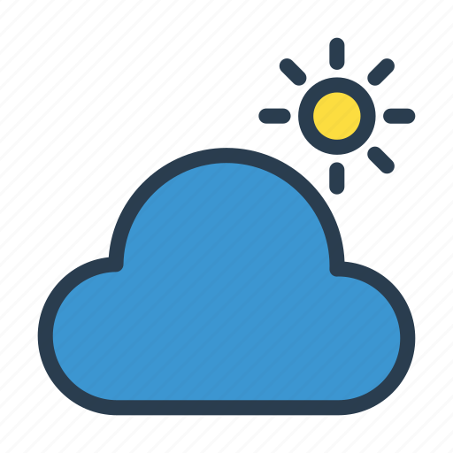 climate, cloud, shine, sun, weather icon