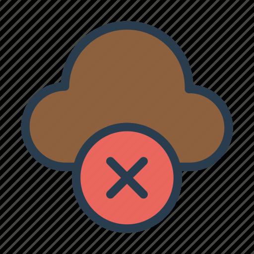 cloud, cross, delete, server, storage icon