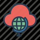 cloud, earth, global, server, world