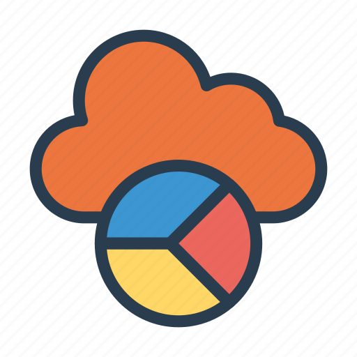 chart, cloud, graph, server, statistic icon