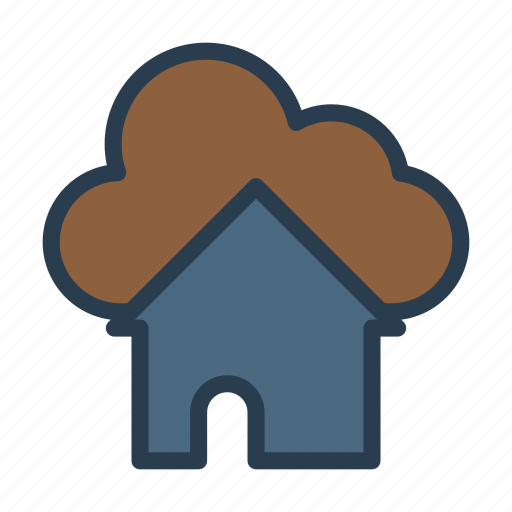 building, cloud, home, house, realestate icon