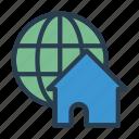 earth, global, home, house, world icon