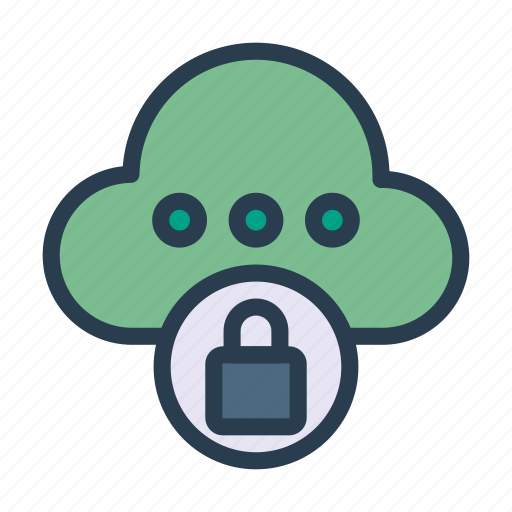cloud, lock, password, secure, server icon