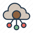 cloud, database, network, server, storage icon