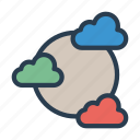 cloud, database, network, server, storage icon