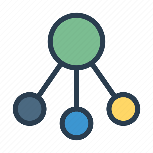 connect, diagram, hierarchy, network, structure icon