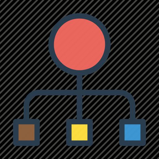 connection, diagram, hierarchy, link, network icon
