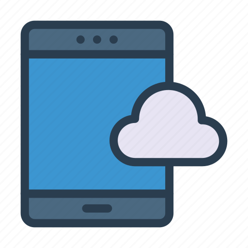cloud, device, mobile, phone, server icon